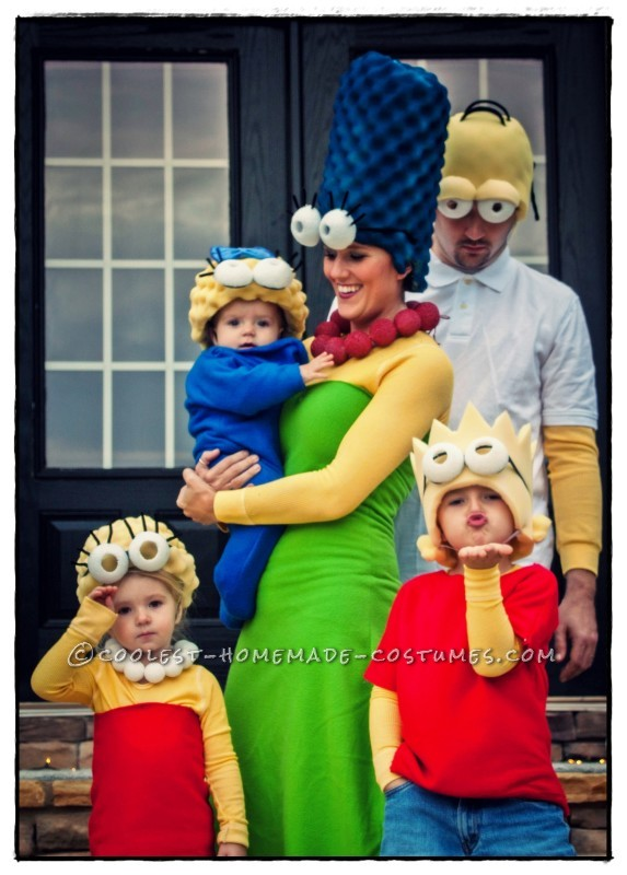 Coolest Homemade Simpsons Family Costume - 1
