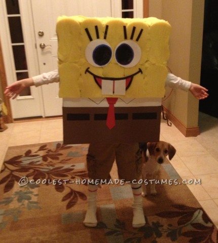 Coolest SpongeBob Costume For a 9 Year Old Boy