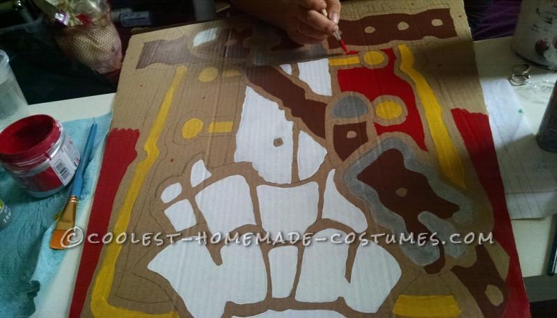 Valspar house paint secretly great for cardboard