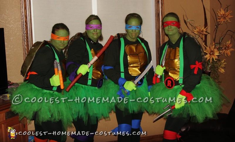 diy ninja turtle costumes for female group