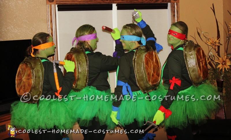 Cowabunga! DIY Ninja Turtle Costumes for Female Group