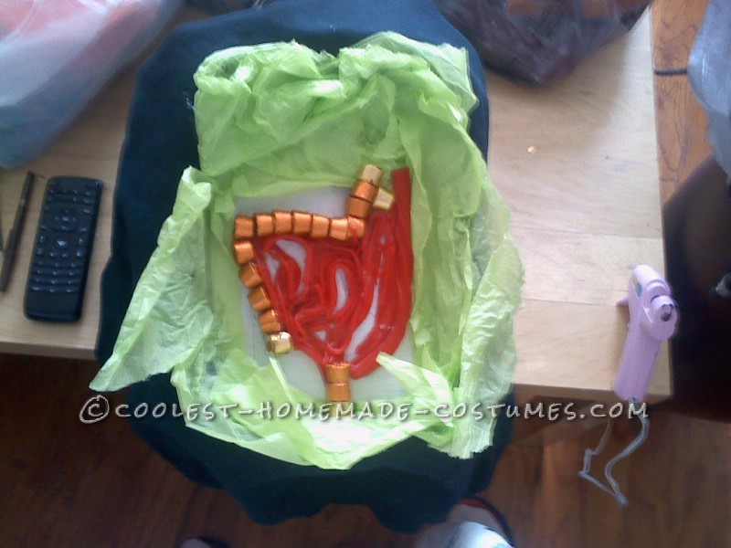 assembling the candy guts