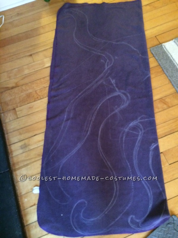 freehand pattern on blanket