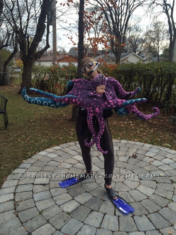 Crazy Baby Octopus Costume With Moving Tentacles