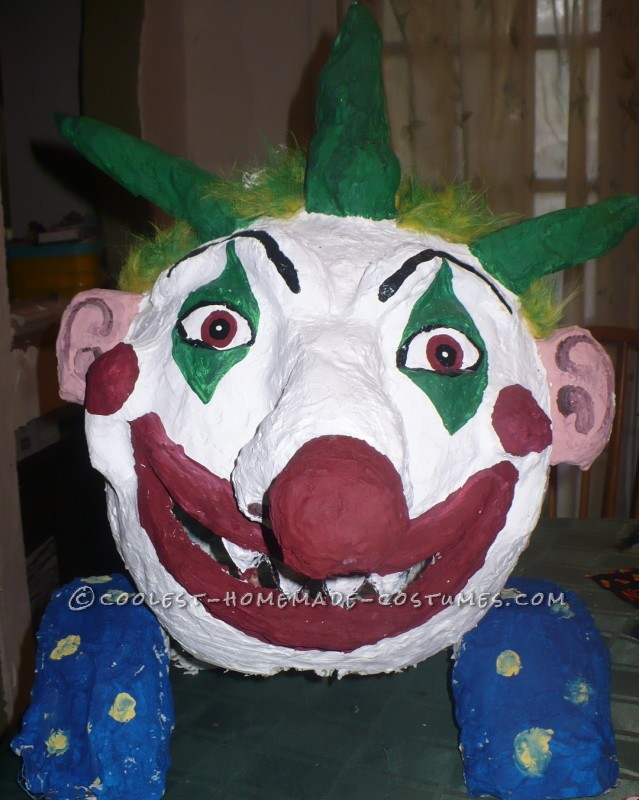 Unique and Crazy Big Headed Clown Costume for a Boy - 3