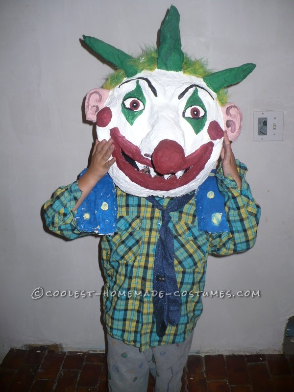 Unique and Crazy Big Headed Clown Costume for a Boy