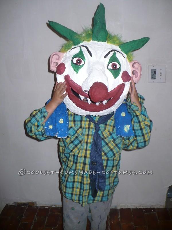Unique and Crazy Big Headed Clown Costume for a Boy