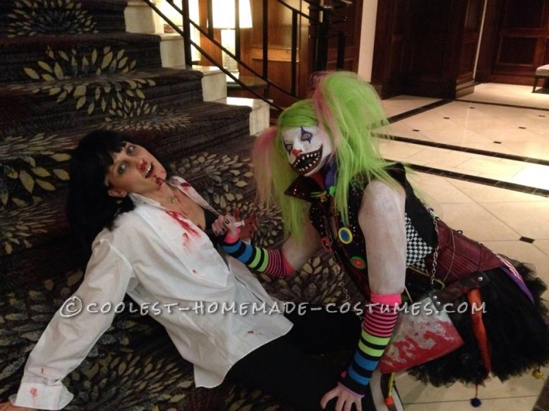 Creepy Clown Couple Costume - 4