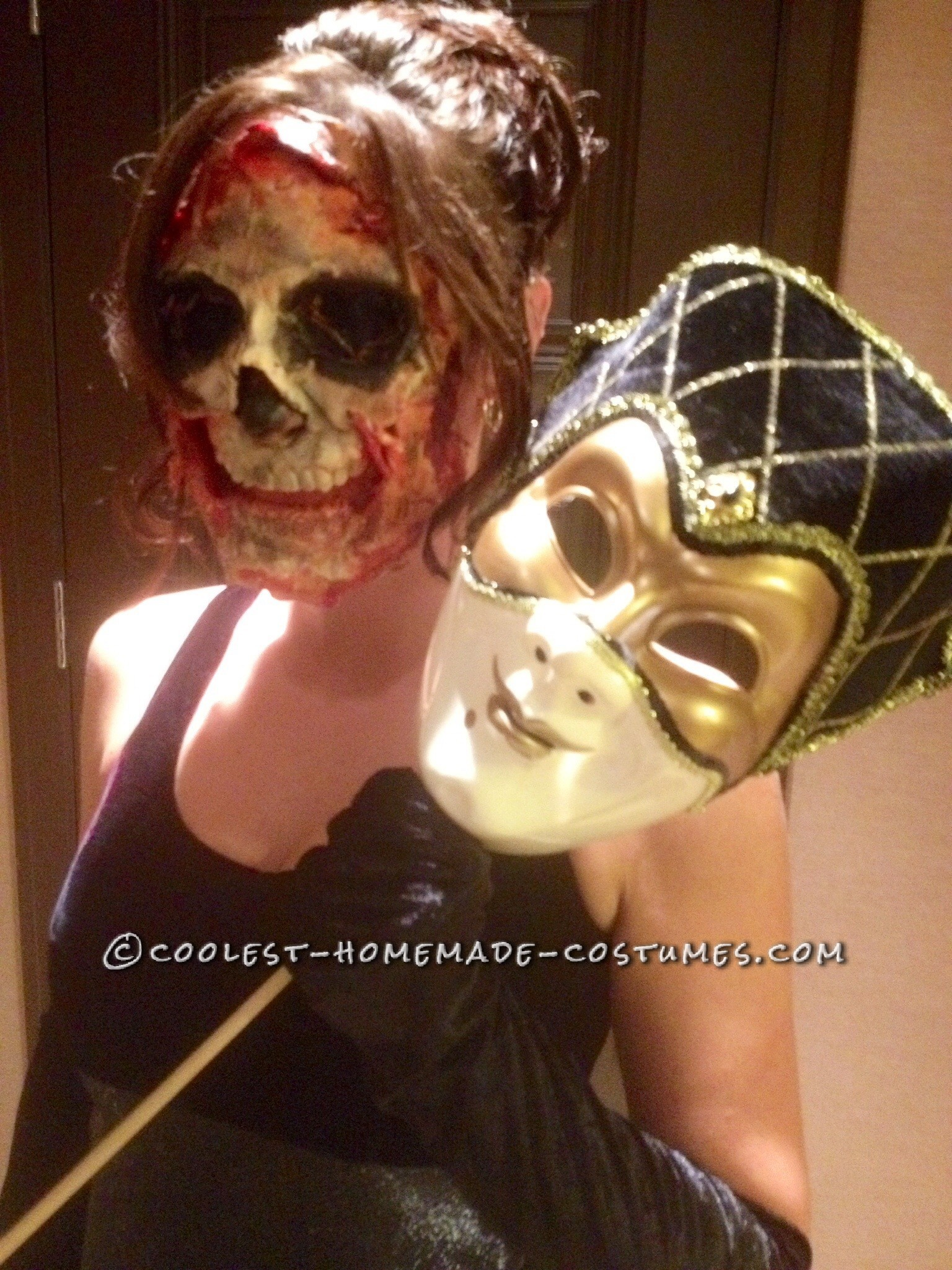 Creepy Super Scary Masquerade Women's Costume