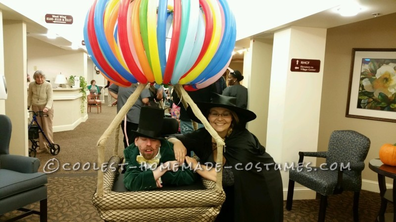 Crowd Rousing Wizard of Oz in a Hot Air Balloon Wheelchair Costume
