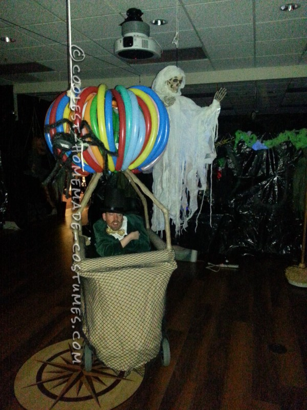 Crowd Rousing Wizard of Oz in a Hot Air Balloon Wheelchair Costume - 5