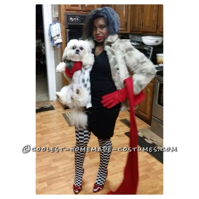Cruella Deville and Jail Bird Accomplice Couple Costume