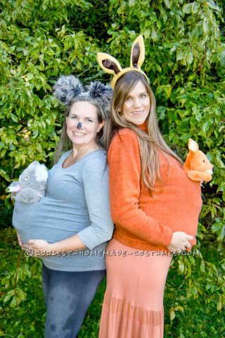 Cute and Easy Maternity Costume – Marsupial Mamas: Koala and Kangaroo