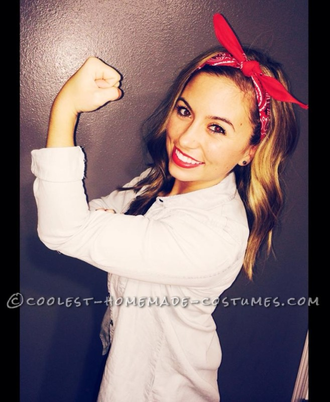 Cute and Easy Rosie the Riveter Costume
