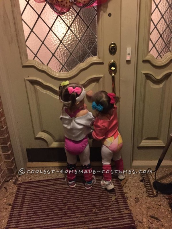 Cutest 80's Workout Girls Couple Costume for Toddlers - 5