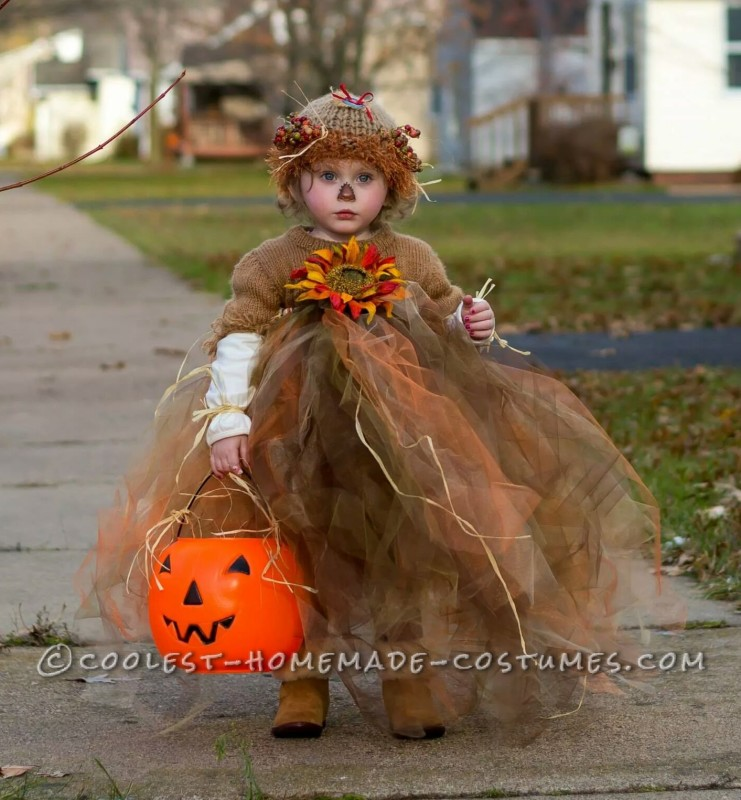 Cutest Scarecrow Costume Ever for a Toddler