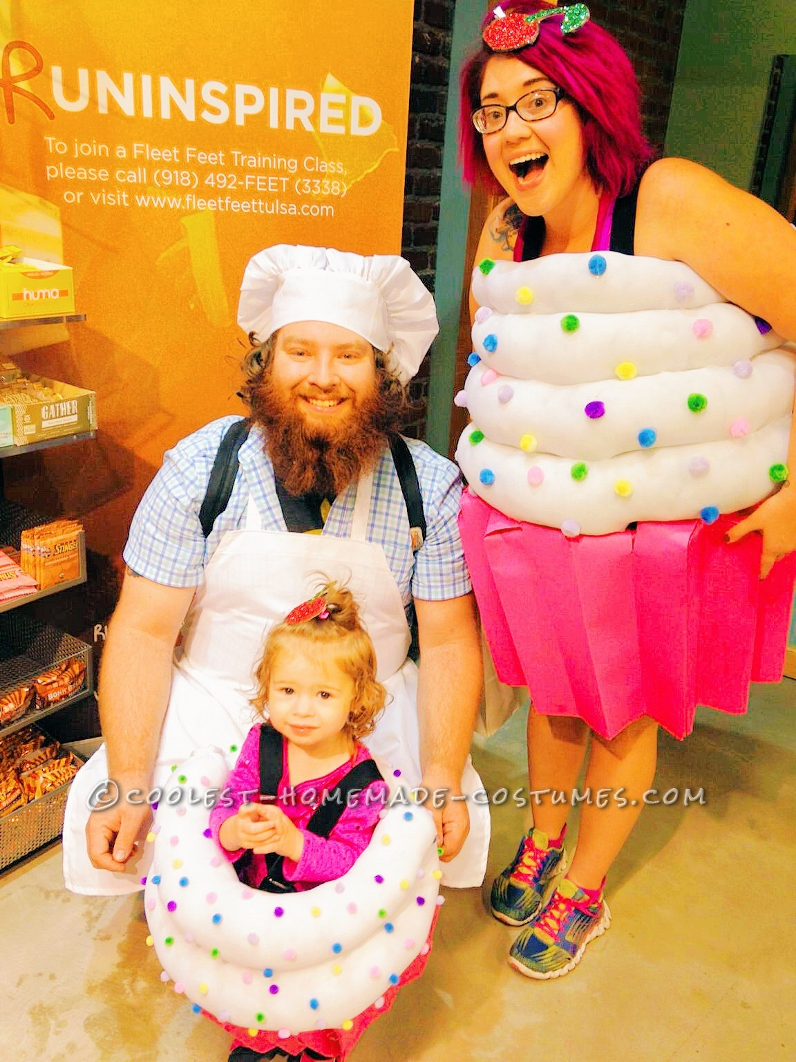 Cute Cupcake Bakery Family Group Costume