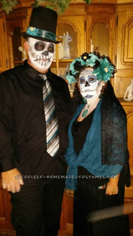 Homemade Day of the Dead Couple Costume - 1