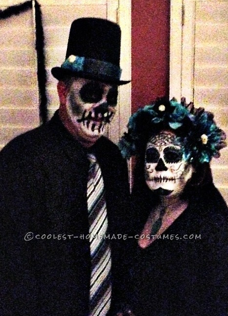 Homemade Day of the Dead Couple Costume - 2