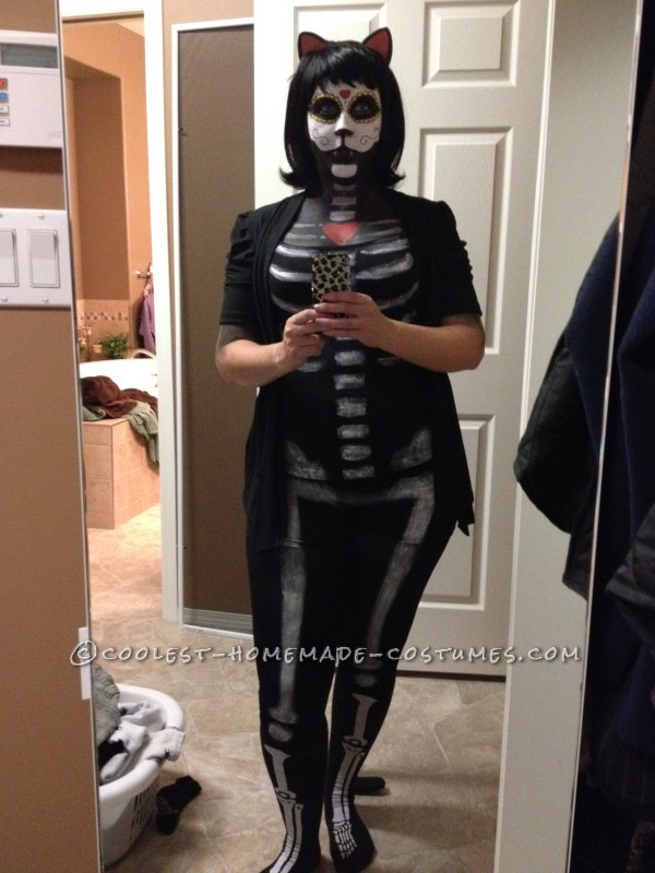 Day of the Dead Cat full length view