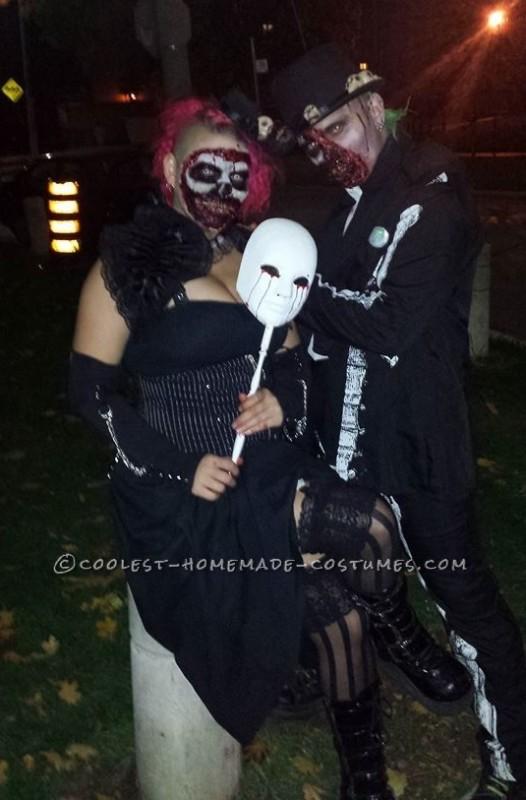 Dead Masquerade Zombie Couple Costume - 3