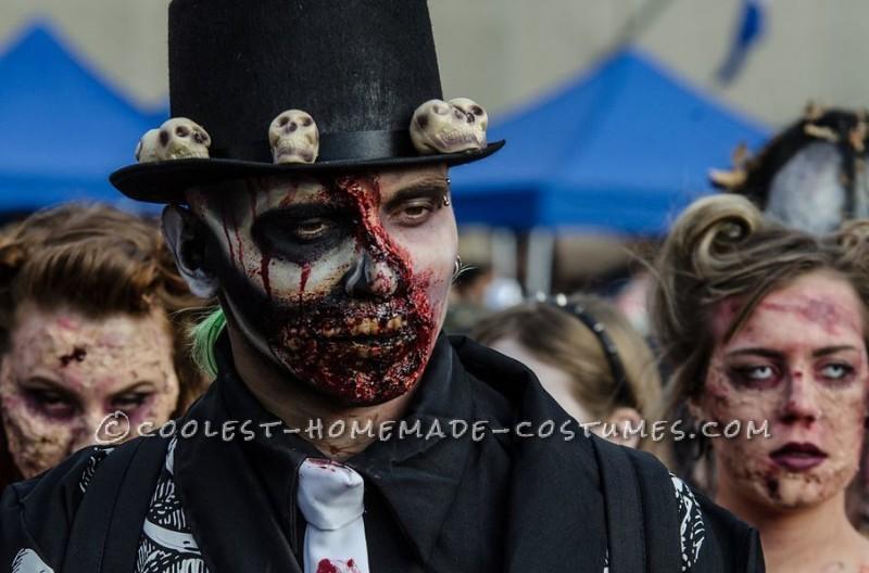 Dead Masquerade Zombie Couple Costume - 1