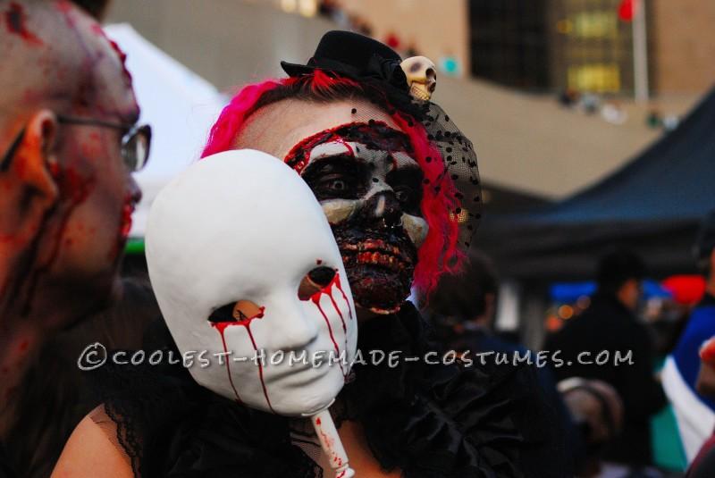 Dead Masquerade Zombie Couple Costume - 4