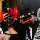 Dead Masquerade Zombie Couple Costume