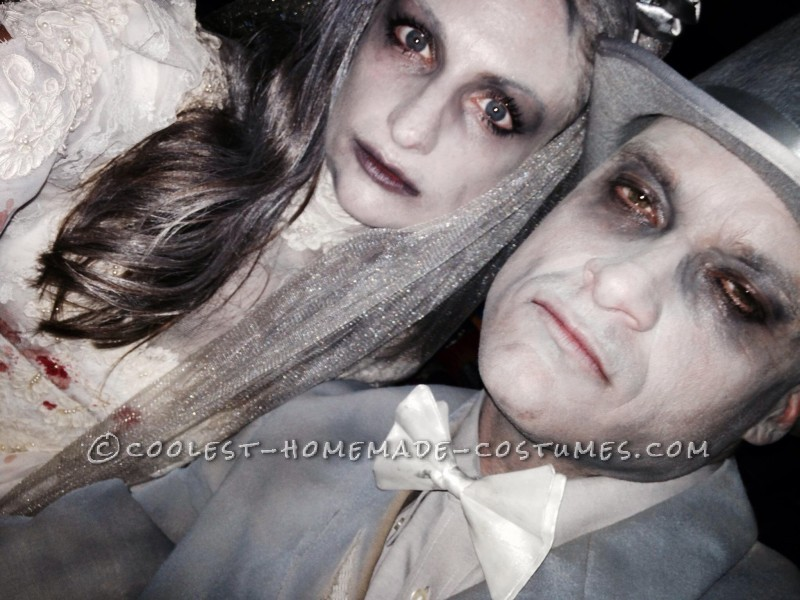 Deathly Ghost Bride And Gloom Couple Halloween Costume - 2
