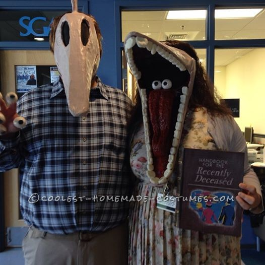 DIY Beetlejuice Adam and Barbara Maitland Costumes