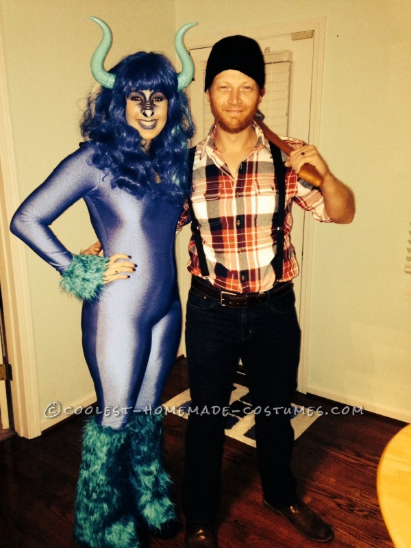 diy paul bunyan and babe the blue ox couple costume