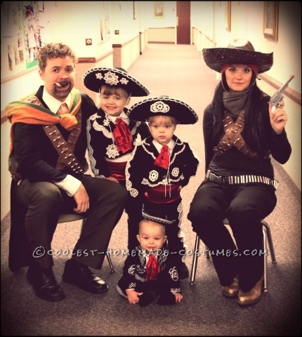Amazing DIY Three Amigos Family Costume
