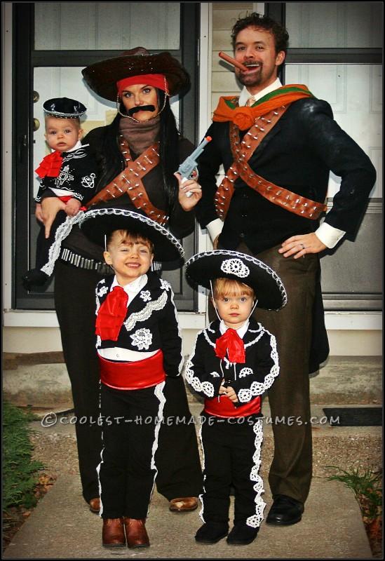 Amazing DIY Three Amigos Family Costume