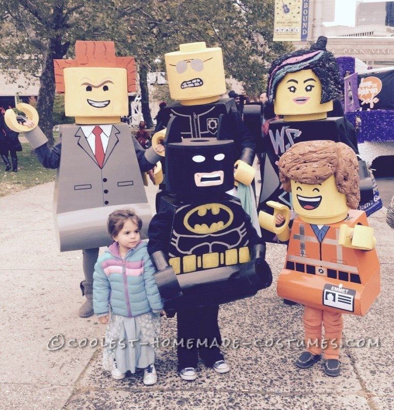 Our Lego costume was a big hit anywhere we went. Everyone wanted a picture with the Lego Family
