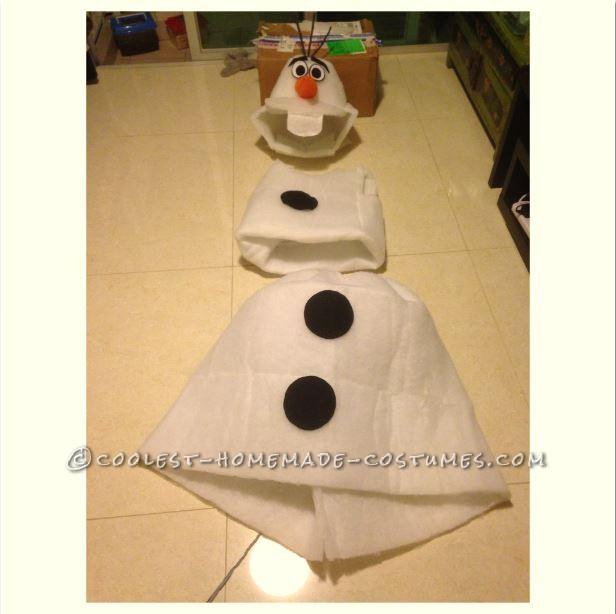 Cool DIY Olaf Costume for Teens - 4