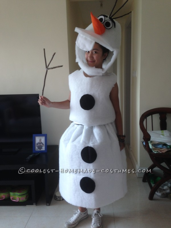 Cool DIY Olaf Costume for Teens
