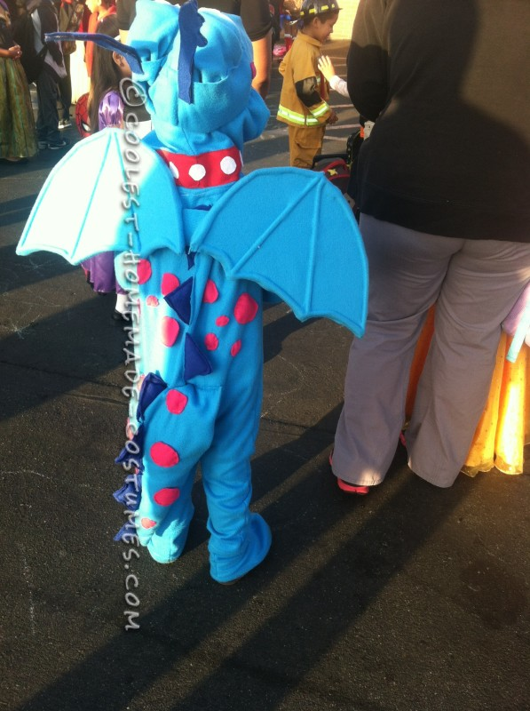 Homemade Docmcstuffins Stuffy the Dragon Costume for a Boy