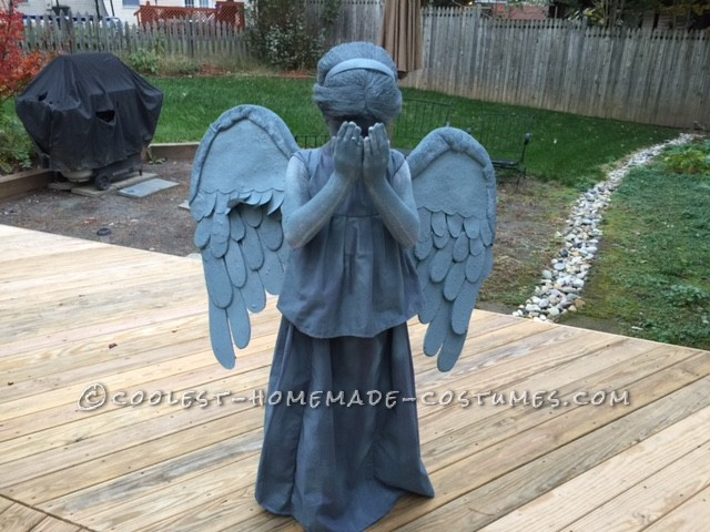 Dr Who Weeping Angel Costume For A True 10 Year Old Whovian
