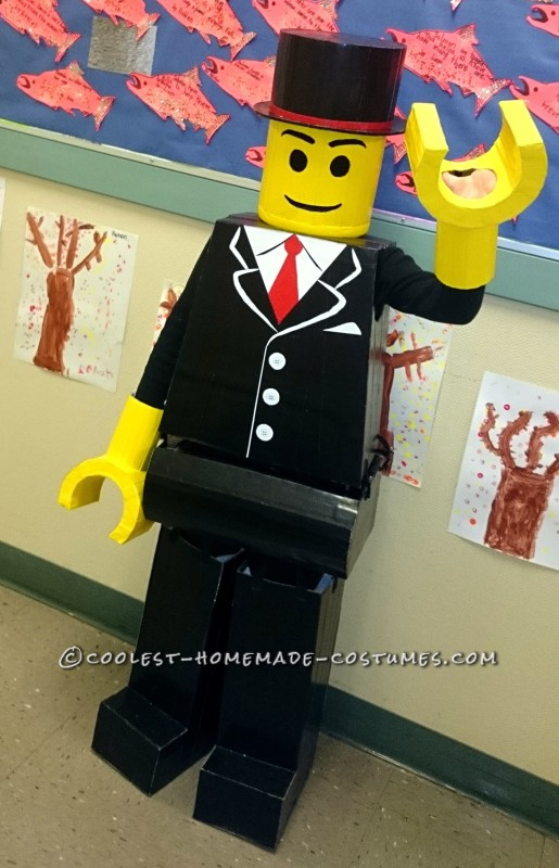 Lego Man Halloween Costume.Coolest Homemade Dressed To Impress Lego Man Costume