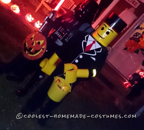 Coolest Homemade Dressed to Impress Lego Man Costume