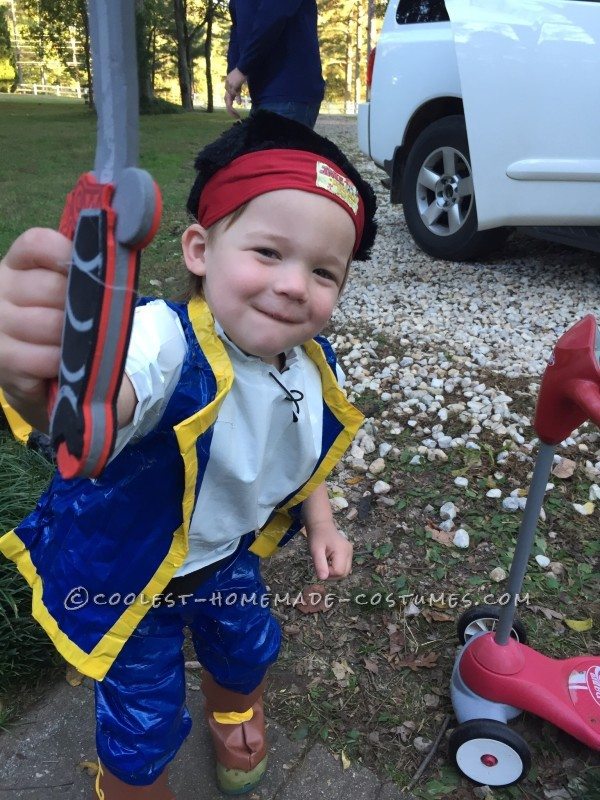 Coolest Homemade Duct Tape Jake the Neverland Pirate Costume