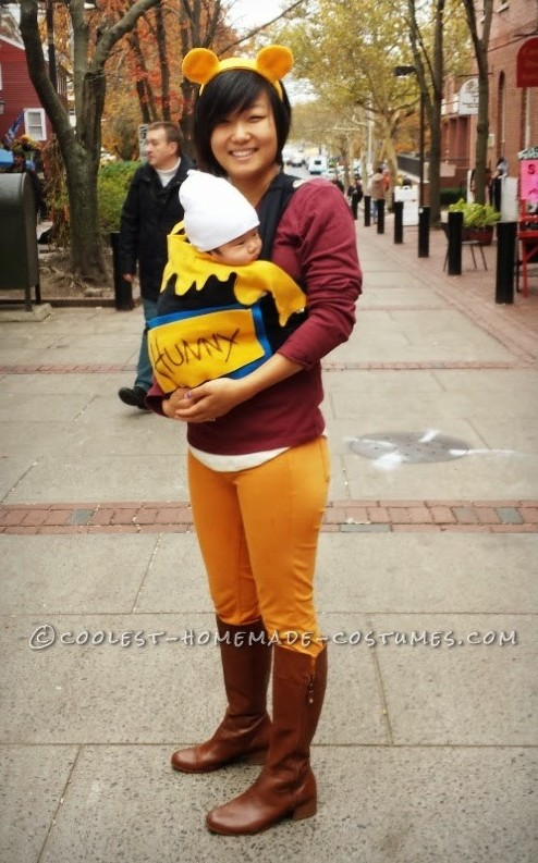 Easiest Mother-Baby Winnie the Pooh Costume