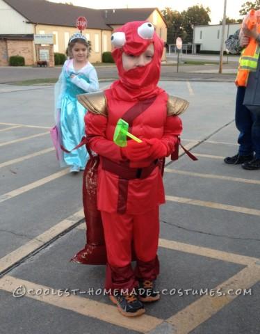 Easy Homemade Little Red Lobster Costume