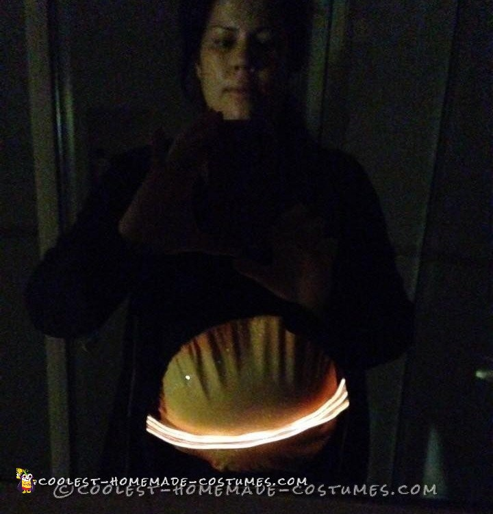 Easy Homemade Maternity Saturn Costume