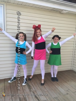 Easy Homemade Powerpuff Girl Group costume