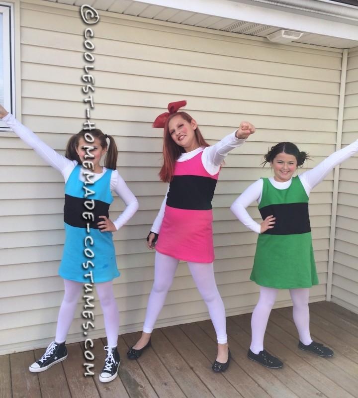 Easy Homemade Powerpuff Girl Group costume