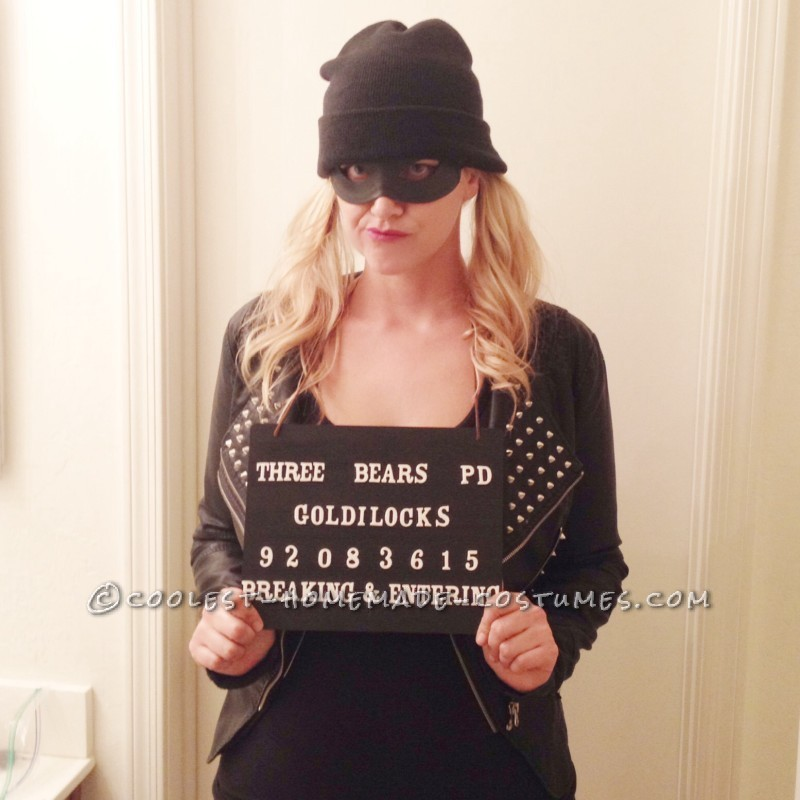 Easy To Make Last-Minute Mugshot Goldilocks Costume