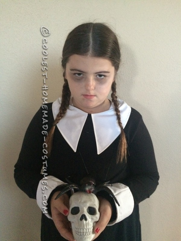 Last Minute Easy Wednesday Addams Costume - 1