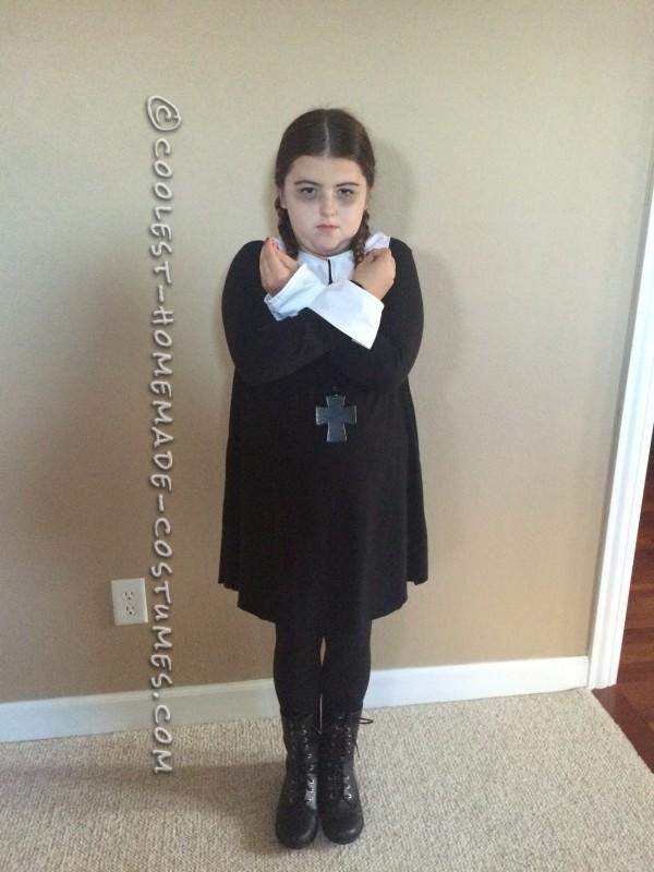 Last Minute Easy Wednesday Addams Costume - 2