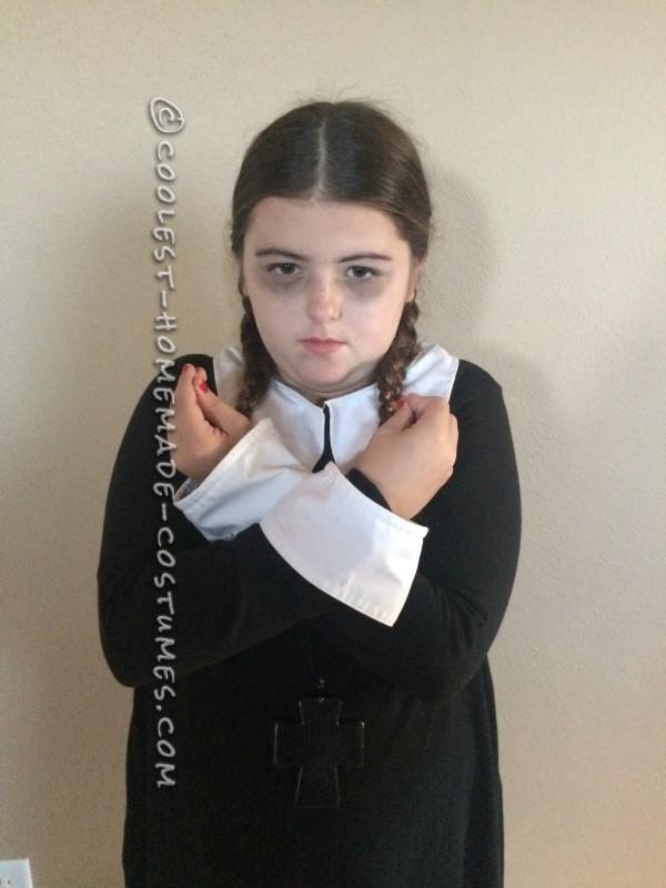 Last Minute Easy Wednesday Addams Costume - 3